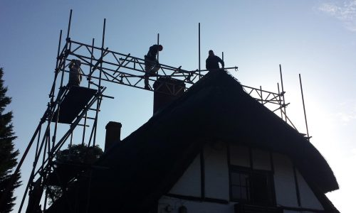 Residential Scaffolding in the Sun - Bournemouth Scaffolding Service