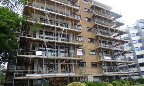 Buckingham Mansions Two - Bournemouth Scaffolding Project