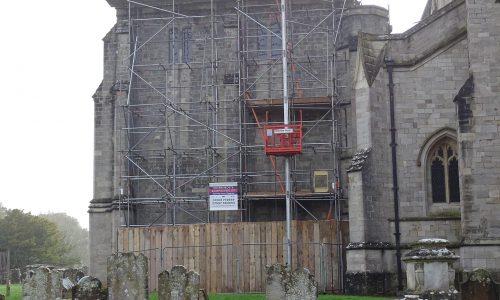 Hoist Hire for Old Church Project - Bournemouth Scaffolding