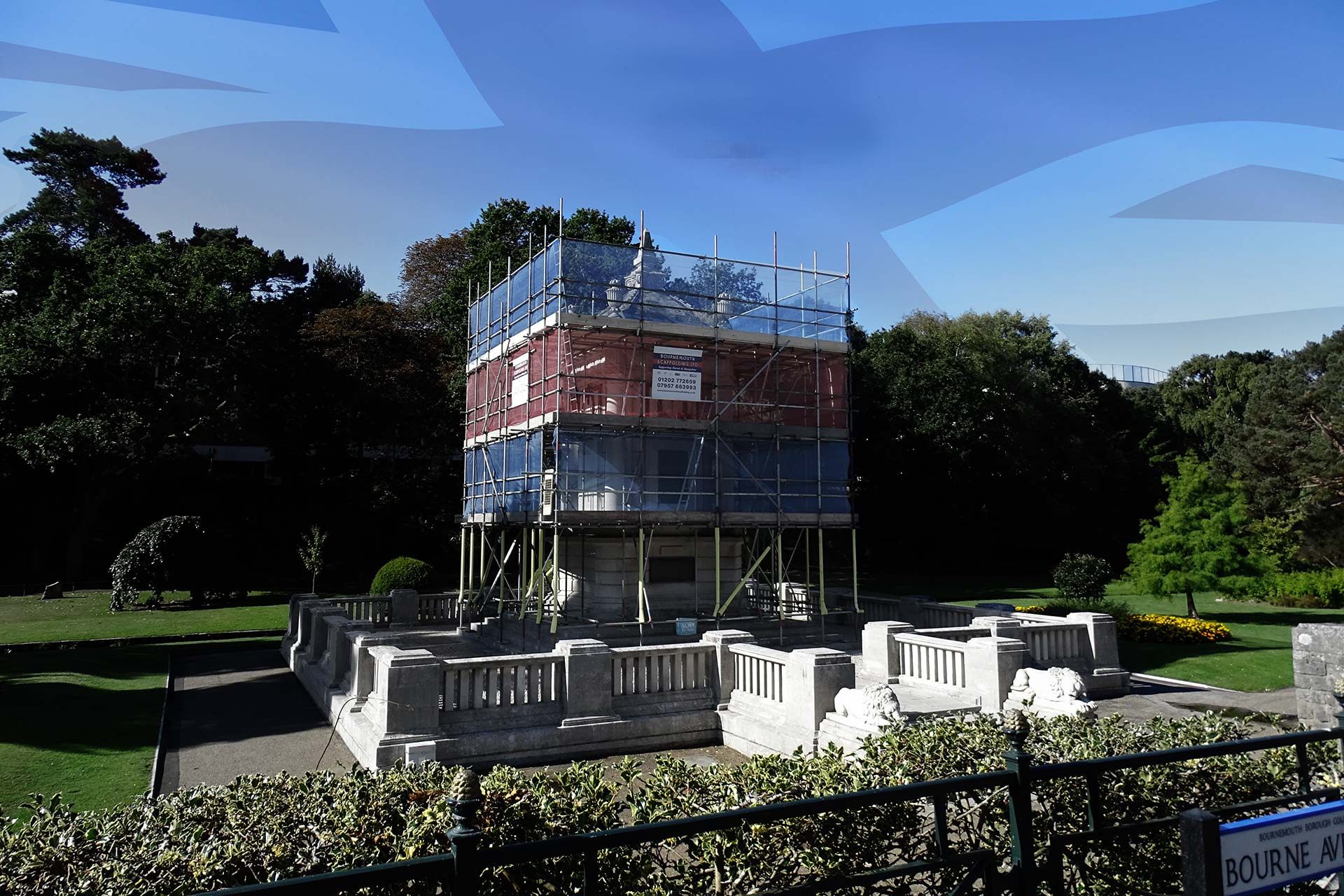 Slide - Bournemouth Gardens Cenotaph Scaffolding