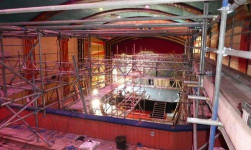Internal Scaffolding at Regent Centre Christchurch by Bournemouth Scaffolding Ltd
