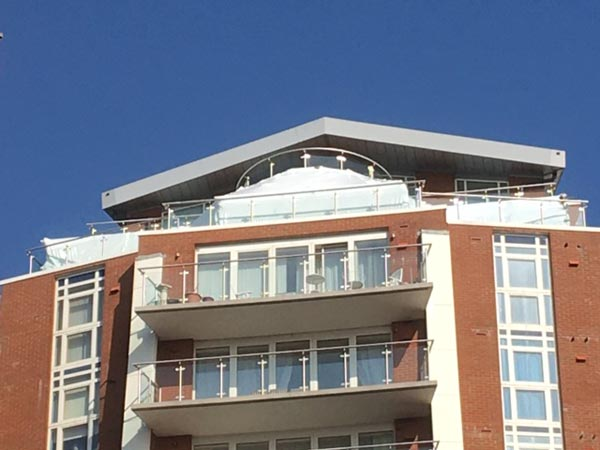 Penthouse Shrink Wrap at Richmond Gate in Bournemouth by Bournemouth Scaffolding Ltd