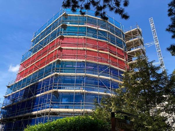 Bath Road Full Scaffolding by Bournemouth Scaffolding Ltd